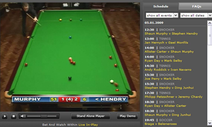 snooker streaming free